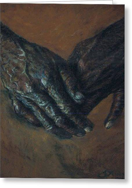 Hands Of Time Greeting Card by Tommy  Winn