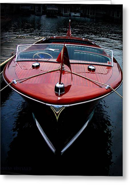 Handsome Wooden Boat Greeting Card