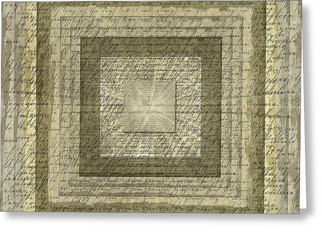Handwriting Abstract Greeting Card by Steve Ohlsen