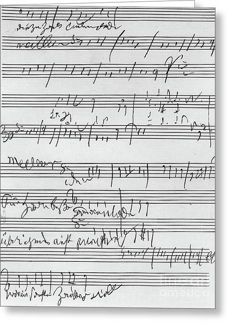 Handwritten Musical Score Greeting Card by Beethoven