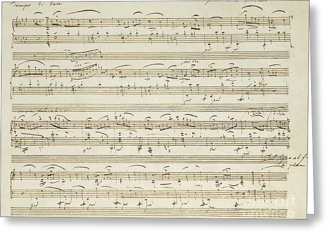 Handwritten Score For Waltz In Flat Major Greeting Card