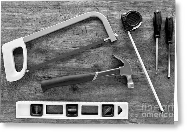 Handyman Greeting Card by Olivier Le Queinec