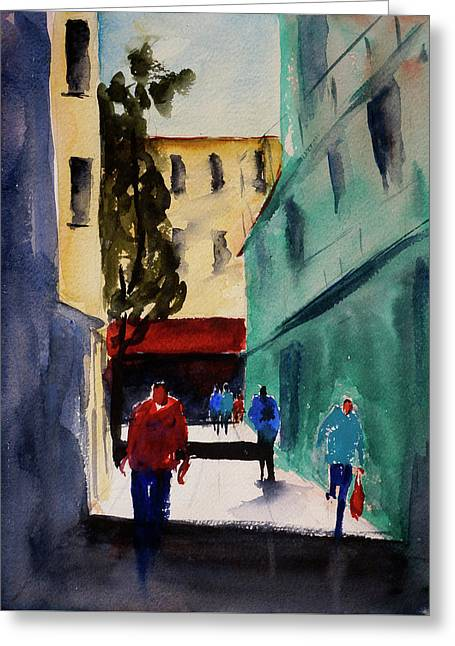 Hang Ah Alley1 Greeting Card by Tom Simmons