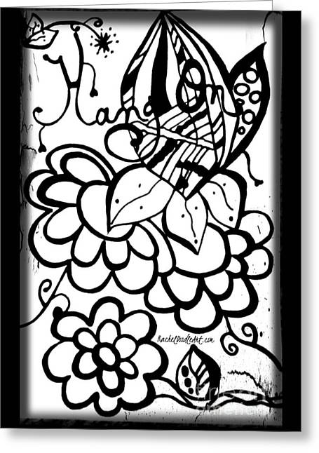 Greeting Card featuring the drawing Hang On by Rachel Maynard
