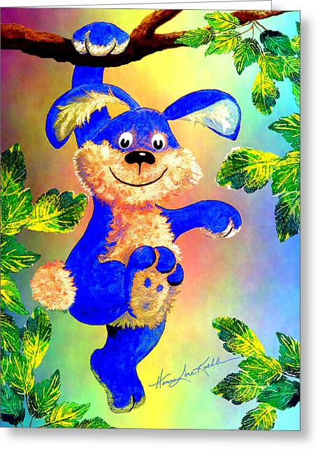 Hang With Me Bunny Greeting Card by Hanne Lore Koehler