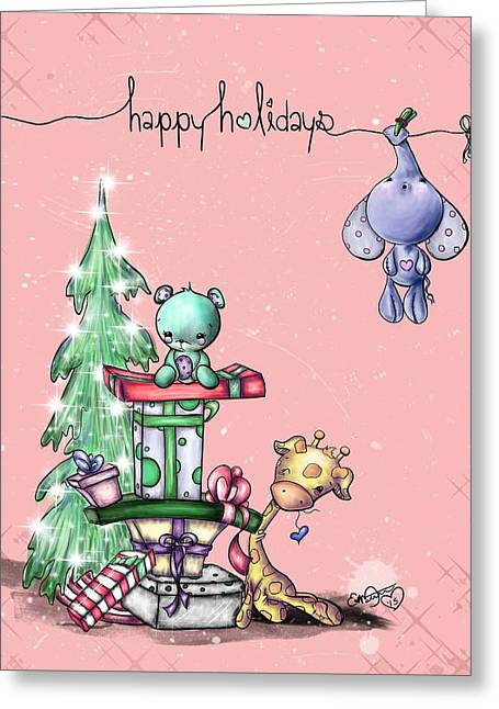 Hanging Around For The Holidays Greeting Card