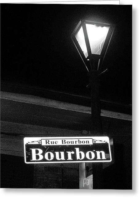 Rue Bourbon Greeting Cards - Hanging Around Greeting Card by Joy Tudor