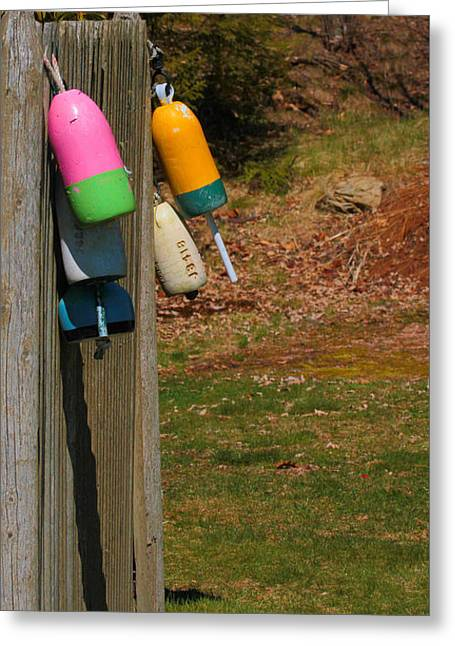Greeting Card featuring the photograph Hanging Buoys by Debbie Stahre