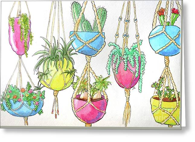 Hanging Garden Greeting Card