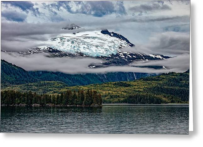 Hanging Glacier Greeting Card by Rick Berk