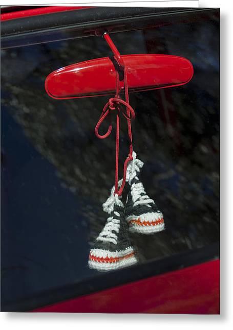 Hanging Hightops Greeting Card by Jill Reger