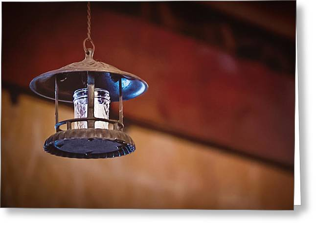 Hanging Lantern Greeting Card by April Reppucci