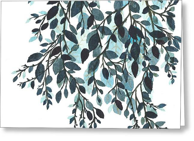 Hanging Leaves II Greeting Card by Garima Srivastava