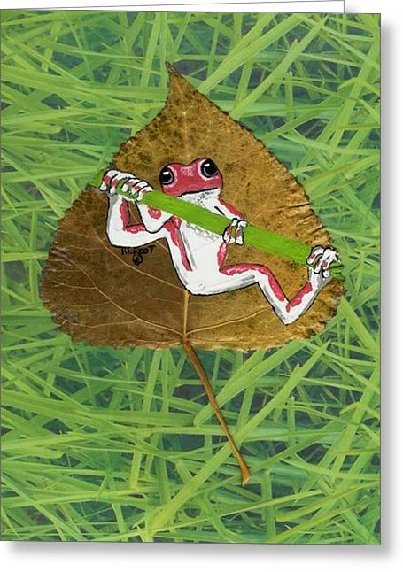 Hanging On Greeting Card