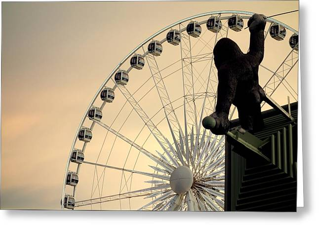 Greeting Card featuring the photograph Hanging On The Wheel by Valentino Visentini