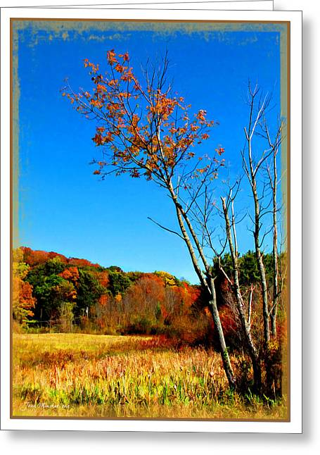 Greeting Card featuring the photograph Hanging On To Autumn by Joan  Minchak