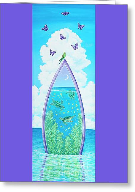 Hanging On To Paradise Greeting Card