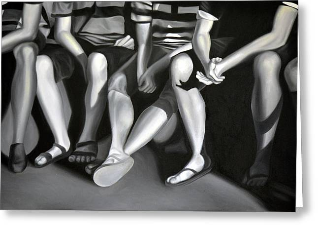 Hanging Out, 2012, 120-80cm, Oil On Canvas Greeting Card