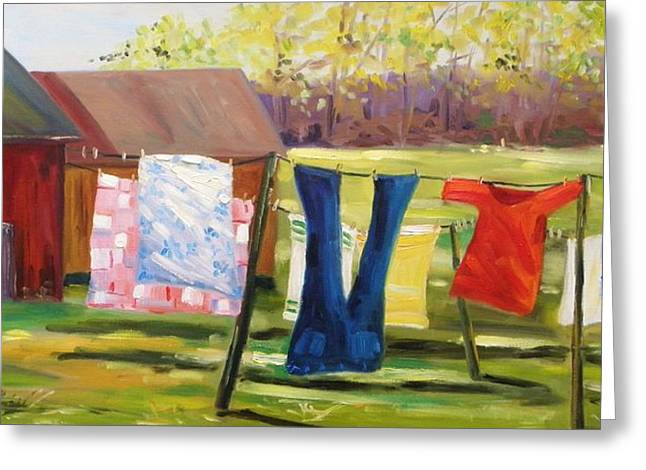 Hanging Out Back Greeting Card