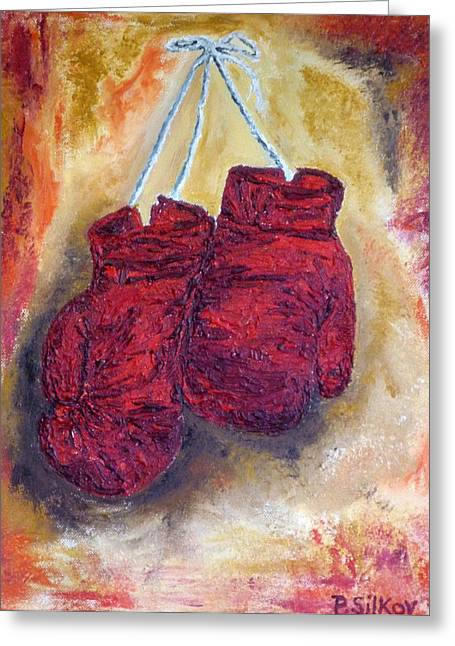 Hanging Up The Gloves Greeting Card by Peter Silkov