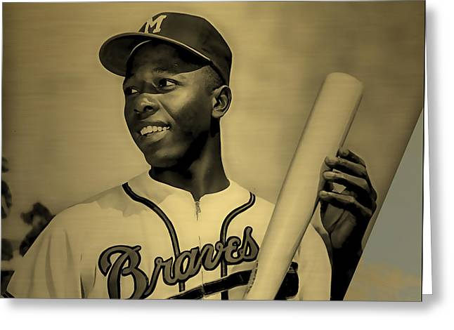 Hank Aaron Collection Greeting Card