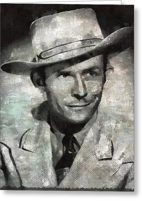 Hank Williams Country Star Greeting Card by Mary Bassett