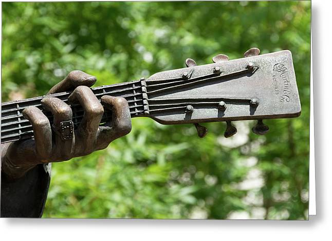 Hank Williams Hand And Guitar Greeting Card