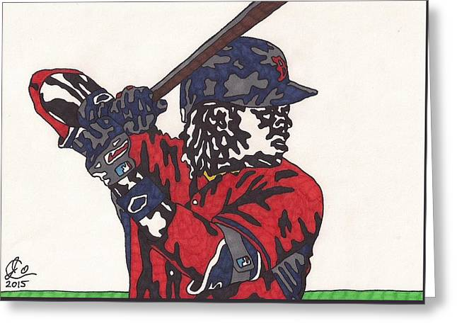 Hanley Ramirez 1 Greeting Card by Jeremiah Colley