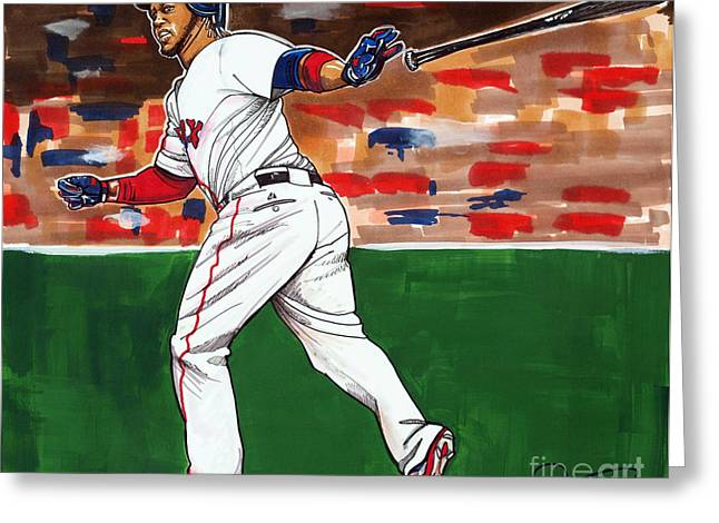 Hanley Ramirez Greeting Card by Dave Olsen