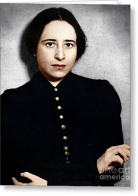 Greeting Card featuring the photograph Hannah Arendt by Granger
