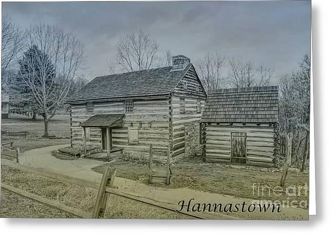 Hannastown Log Cabin One Greeting Card by Randy Steele