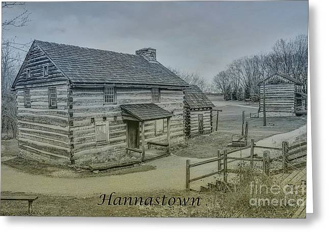 Hannastown Log Cabin Two Greeting Card