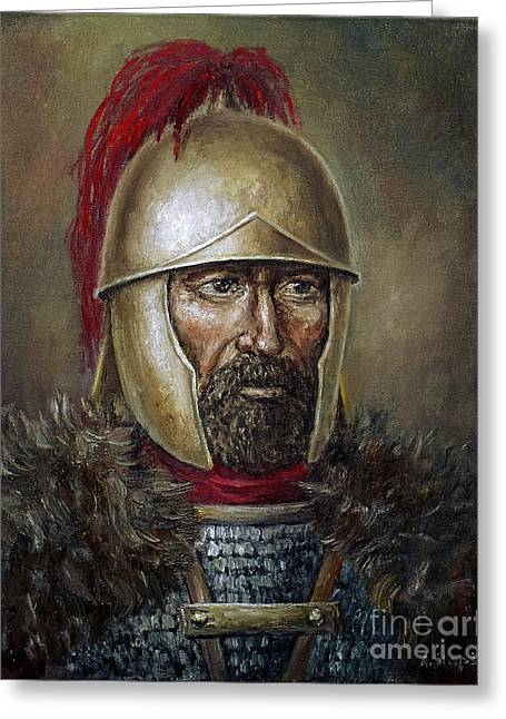 Hannibal Barca Greeting Card by Arturas Slapsys