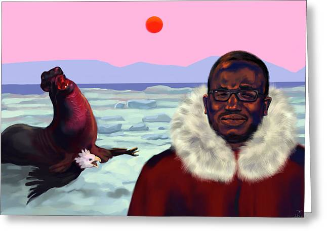 Hannibal Buress Greeting Card by Brittany Zagoria