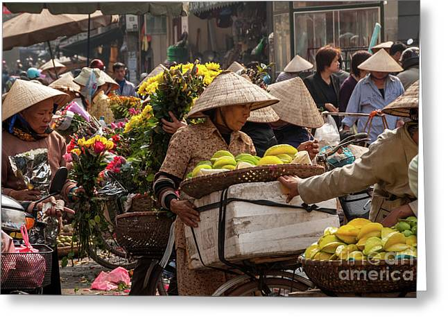 Hanoi Market 02  Greeting Card