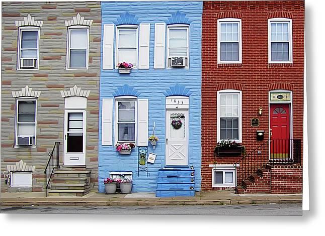Hanover Street - S Baltimore Greeting Card