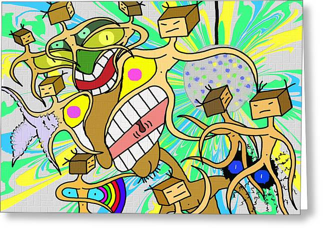 Hansel's Late Night Rave Greeting Card by Louis Fristensky
