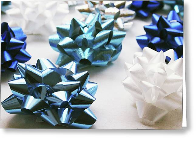 Hanukkah Bows- Photography By Linda Woods Greeting Card by Linda Woods
