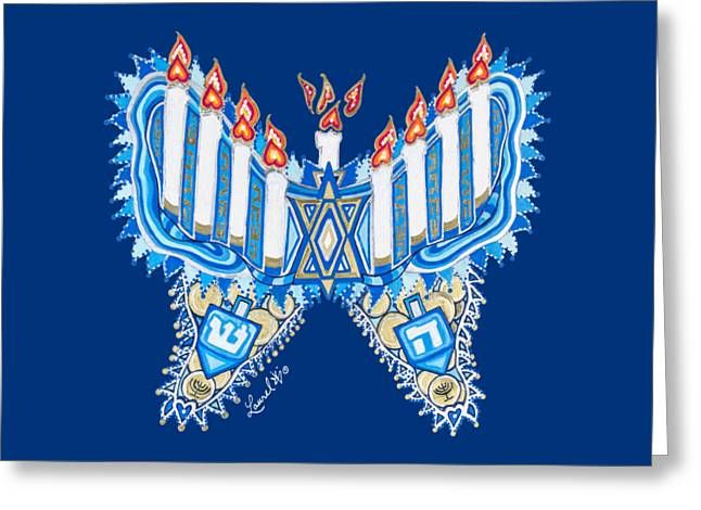 Hanukkah Butterfly Greeting Card