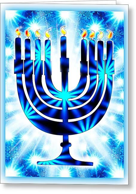 Hanukkah Greeting Card Ix Greeting Card by Aurelio Zucco