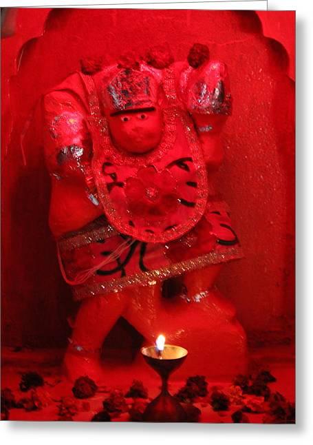 Hanuman Ji, Vrindavan Greeting Card by Jennifer Mazzucco