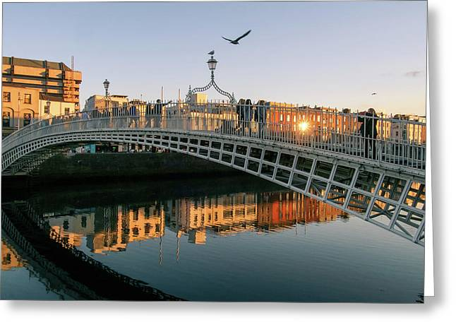 Ha'penny Bridge Greeting Card