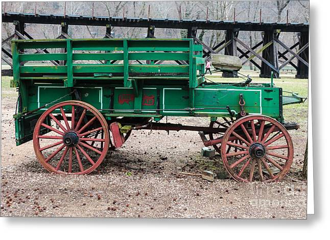 Harpers Ferry Wagon Greeting Card by Thomas Marchessault