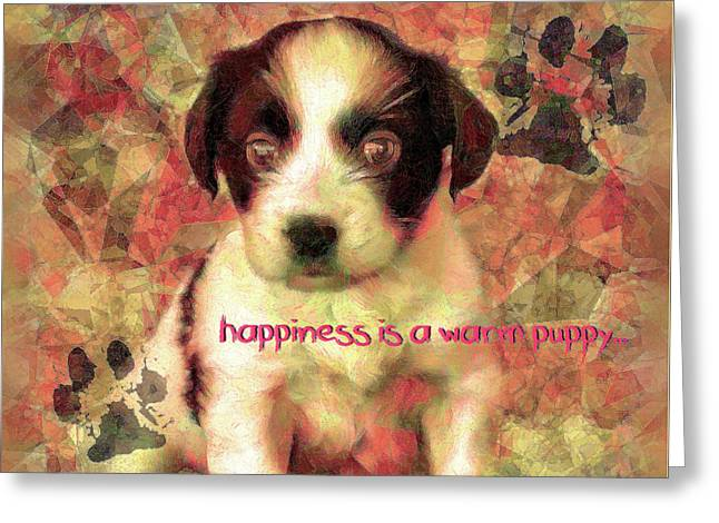 Greeting Card featuring the digital art Happiness 2016 by Kathryn Strick