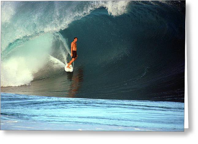 Banzai Pipeline Greeting Cards - Happiness Is Greeting Card by Kevin Smith