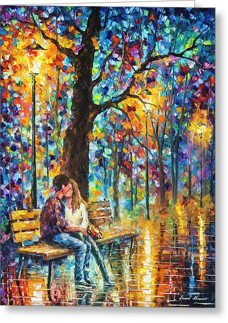Happiness   Greeting Card by Leonid Afremov