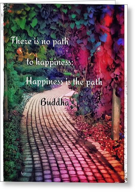 Happiness Path Greeting Card by Christine Paris