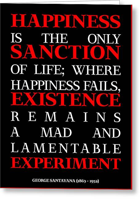 Happiness And Existence Poster Greeting Card