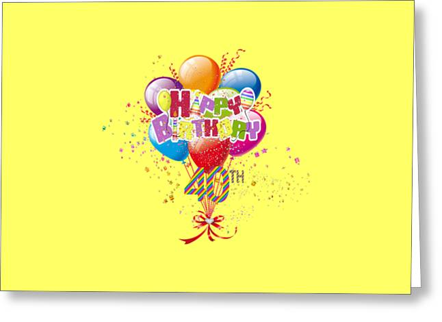 Happy 40th Birthday Greeting Card by D Miller