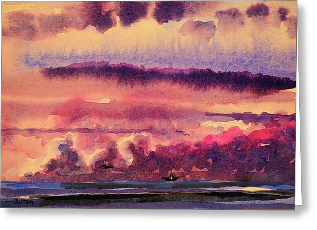 Morning Clouds On The Ocean  Greeting Card